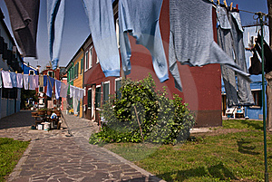 Drying Of Clothes Royalty Free Stock Photo - Image: 17143485