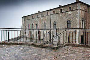 Partly View Of The Castle Of St. Leon, Italy Stock Image - Image: 17155911