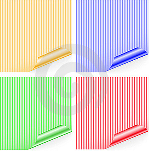 Striped Stickers Stock Images - Image: 17156334