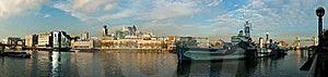 贝尔法斯特hms河泰晤士视图 免版税库存照片 - 图片: 17158598