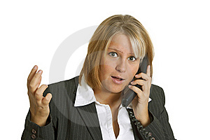 Woman With Stress In The Office Royalty Free Stock Image - Image: 17159176