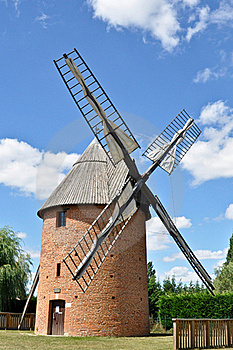 Old Renovated Windmill Royalty Free Stock Images - Image: 17159199