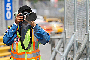 A Man Takes A Photograph Stock Images - Image: 17159404
