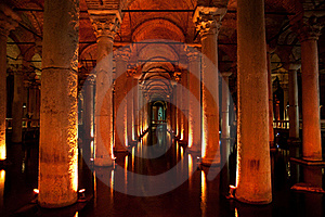 Ancient Underground Water Reservoir Royalty Free Stock Photography - Image: 17159487