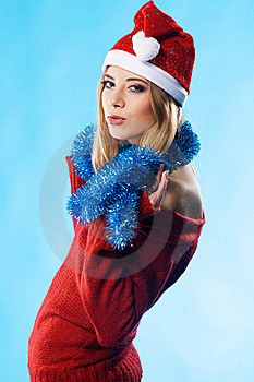 Lovely Christmas Girl Royalty Free Stock Photo - Image: 17160275