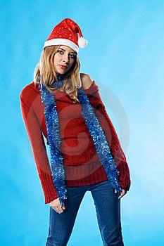Lovely Christmas Girl Stock Image - Image: 17160281