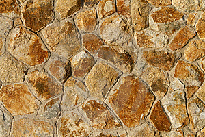 Orange Tinted Stone Wall Background Royalty Free Stock Images - Image: 17160609