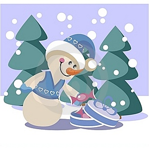 Snowman Color 19 Royalty Free Stock Photo - Image: 17162725