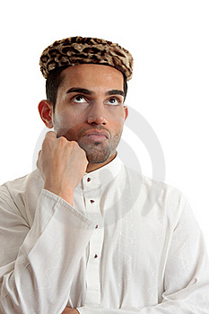 Ethnic Man Thinking Brainstorming Stock Photo - Image: 17162840