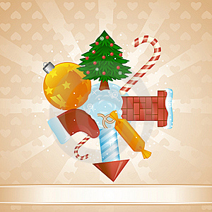 Christmas Sphere Stock Images - Image: 17165164