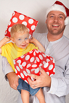 Baby Boy With His Father For Christmas Stock Photography - Image: 17167862