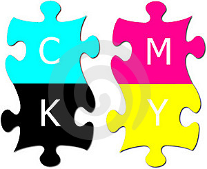 Puzzle With Letters Cmyk Royalty Free Stock Photos - Image: 17170378