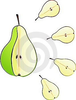 Pear Cut Isolated Illustration Stock Photos - Image: 17170563