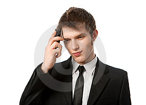 Man With A Telephone Stock Images - Image: 17170624