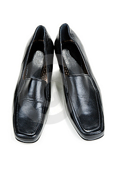 Black Feminine Loafers Stock Images - Image: 17171784