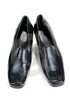 Black Feminine Loafers Stock Images - Image: 17171784