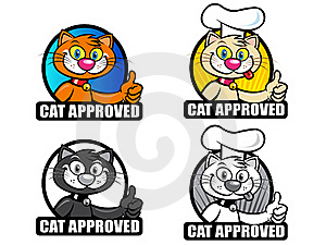 Cat Approved Seals Set Stock Photography - Image: 17173172