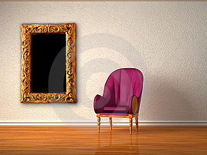Alone Luxurious Chair With Modern Frame Royalty Free Stock Photography - Image: 17173577