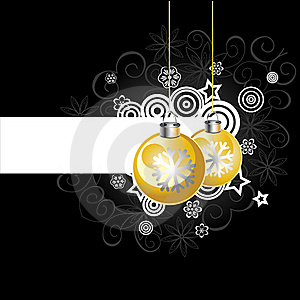 Background With Christmas Balls, Illustration Royalty Free Stock Photo - Image: 17174215