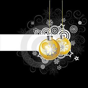 Background With Christmas Balls, Illustration Royalty Free Stock Photo - Image: 17174215