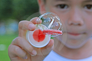 Showing Soap Bubbles Stock Photo - Image: 17175100