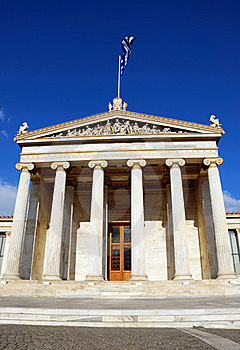 The National Academy Of Athens (Greece) Stock Image - Image: 17175831