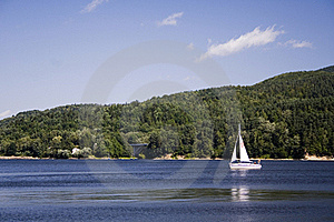 Beautiful Lake Ideal For Sailing Royalty Free Stock Photography - Image: 17176007