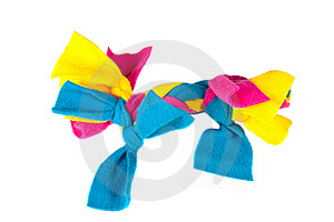 Colorful Rag Chew Toy For Puppies Royalty Free Stock Photos - Image: 17176548