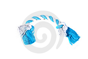 White And Blue Rope Chew Toy For Dogs Stock Photo - Image: 17176550