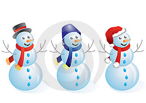Snowmen. Royalty Free Stock Images - Image: 17178499