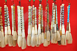 Chinese Painting Brushes Royalty Free Stock Images - Image: 17179299