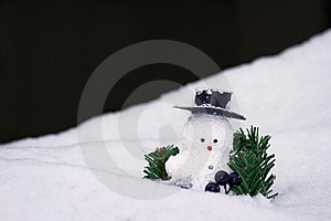 Fresh Snow And A Snowman Stock Images - Image: 17180734