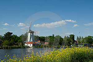Mill Near River Rotte Stock Photo - Image: 17181060