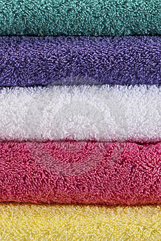 5 Colored Towels Royalty Free Stock Photo - Image: 17181315