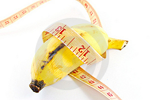 Diet Banana On White Background Royalty Free Stock Images - Image: 17185339