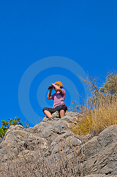 The Boy With The Glasses On The Rocks Stock Photo - Image: 17186430