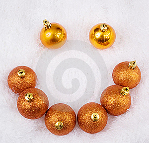 Christmas Golden Brightly Sphere Royalty Free Stock Photography - Image: 17187867