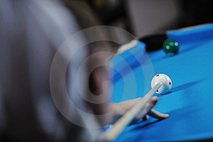 Young Man Play Pro Billiard Game Stock Photography - Image: 17188492