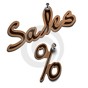 Sales And Percent Stock Image - Image: 17190171