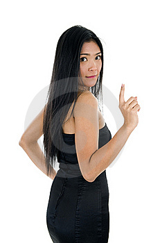 Woman Looking Back Stock Image - Image: 17190431