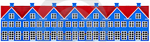 Row Of Toy Houses Stock Photography - Image: 17191422