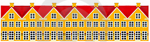 Row Of Toy Houses Royalty Free Stock Photo - Image: 17191575