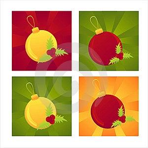 Set Of 4 Christmas Backgrounds Stock Photo - Image: 17195450