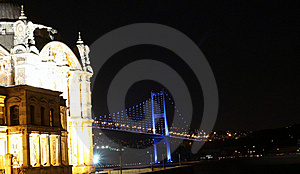 Buyuk Mecidiye Mosque With Bosporus Bridge Stock Images - Image: 17199084