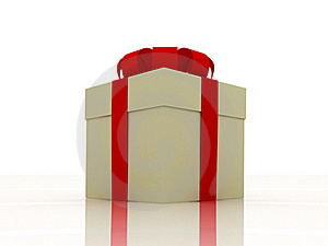 Paper Gift With Red Ribbon Royalty Free Stock Image - Image: 17199166