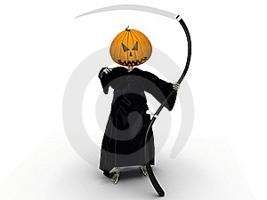 Death Of A Pumpkin Head And A Black Silk Royalty Free Stock Photo - Image: 17199705