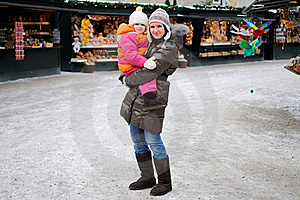 Young Mother With Amaze Small Daughter Royalty Free Stock Images - Image: 17199759