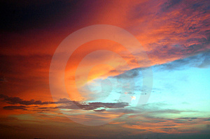 Colorful clouds Stock Images