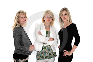 Three business woman Royalty Free Stock Image