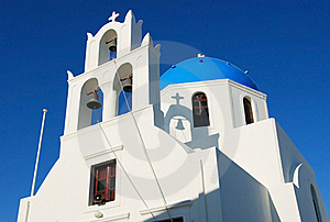 Blue Church At Santorini Stock Images - Image: 17201584